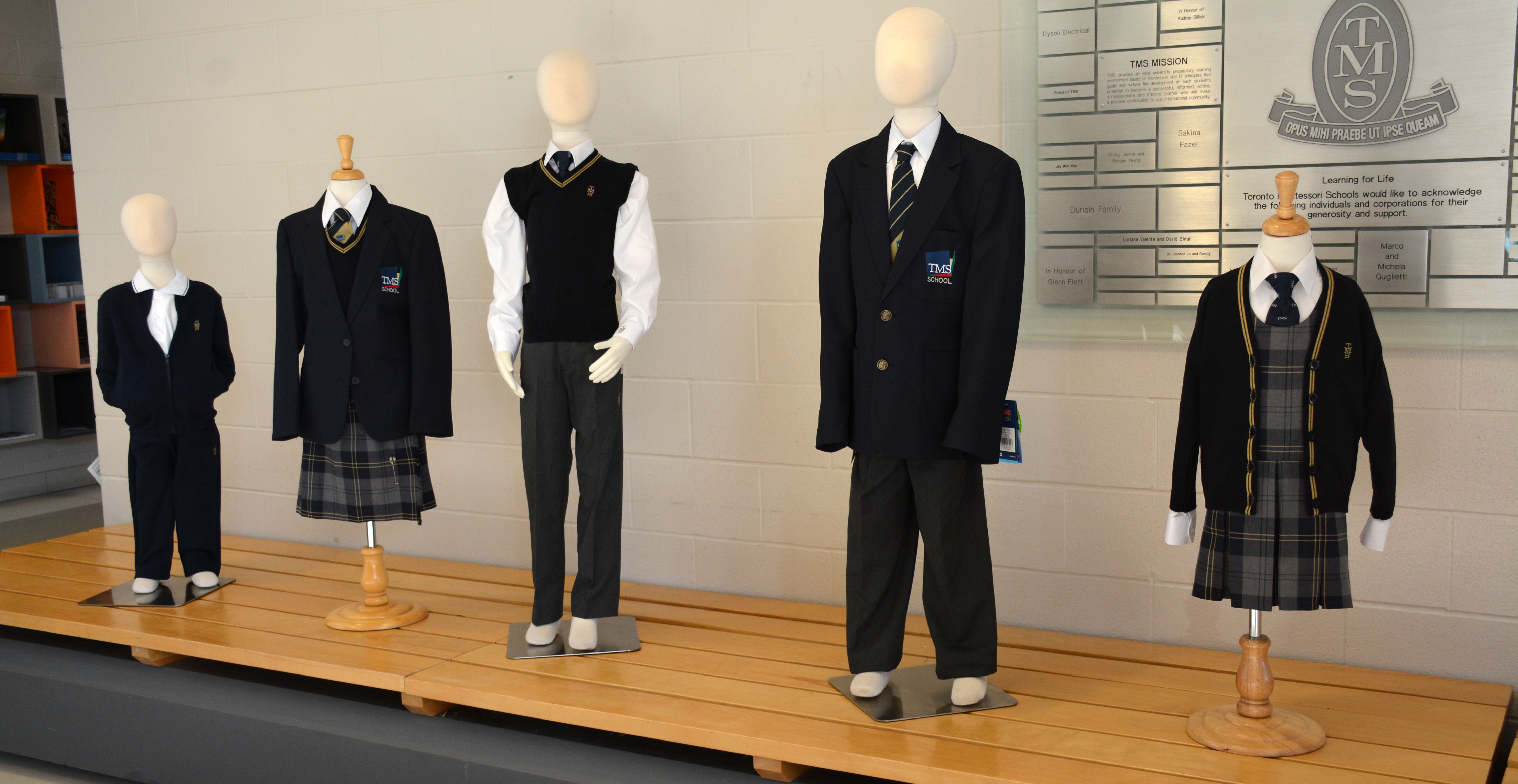 TMS Uniforms on display